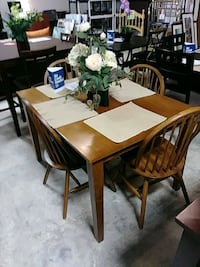 rectangular brown wooden table with six chairs dining set Indianapolis, 46219