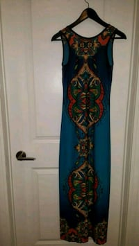 blue and red floral sleeveless dress Toronto