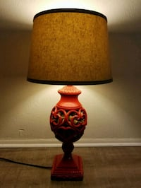 REDUCED!! VINTAGE RED CORK FILLED BODY LAMP Fort Myers, 33919
