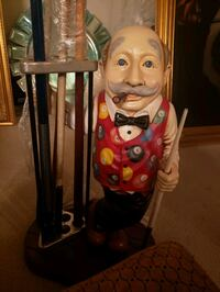 Pool Stick Man Statue W/Sticks- DELIVERY AVAILABLE  College Park