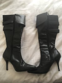 Women's high-heeled black boots-size 7.5-8 Cambridge, N1R 6Z8