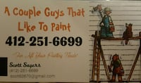 a couple guys that like to paint business card Sewickley, 15143