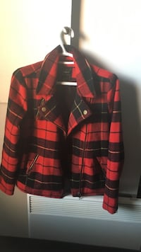 red and black plaid button-up jacket Hull, J8X 2E1