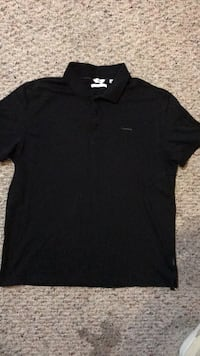 black crew-neck t-shirt 67 km