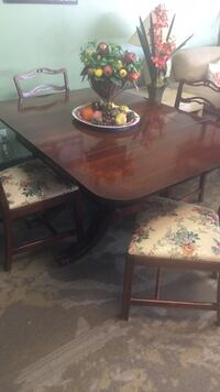 rectangular brown wooden table with four chairs dining set Phoenix, 85009