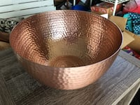 Copper salad bowl, like new only 5 dollars Hilo, 96720