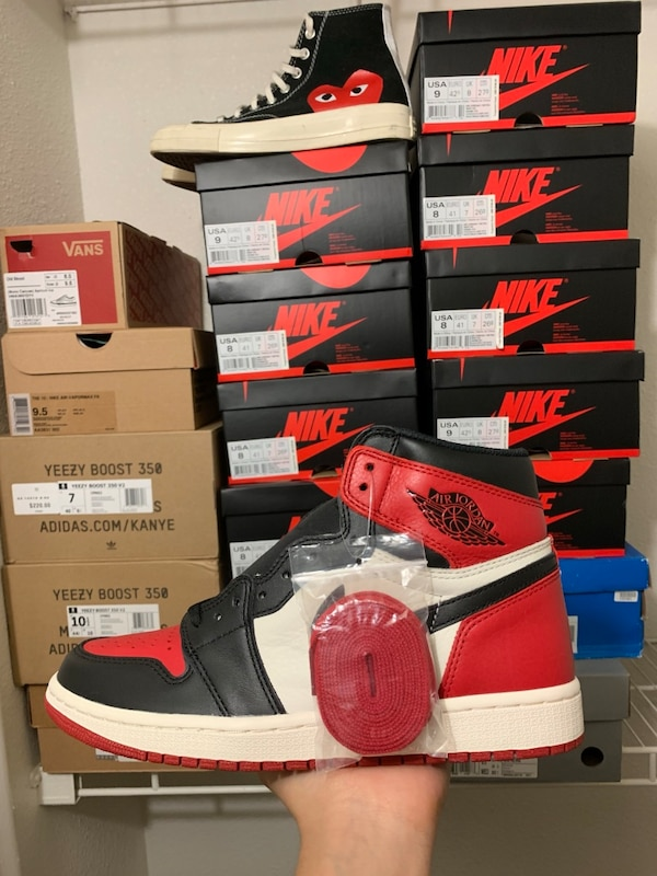 d139a03487cefa Used Jordan 1 Bred Toe DS for sale in Fort Worth - letgo