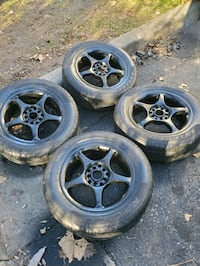 4 15 in 5x100 5x114.3 wheels rims and tires