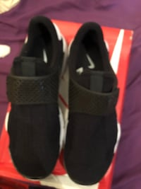 pair of black Nike Lebron James basketball shoes New York, 10002