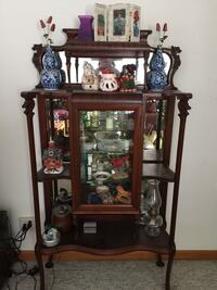Native Curved Glass China Cabinet Woodstock, 60098