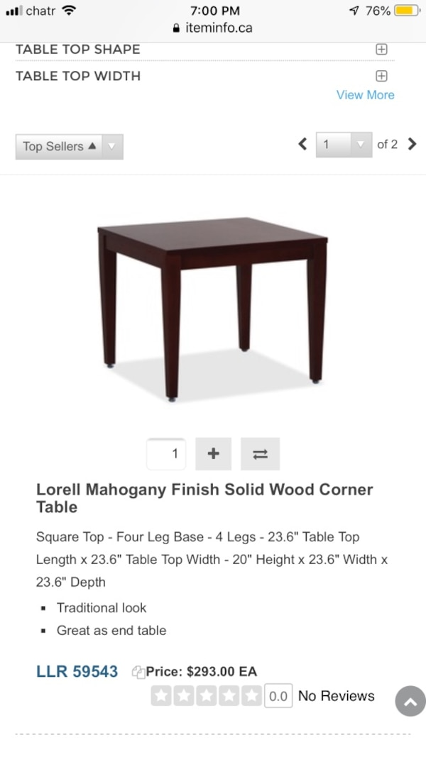 COFFEE TABLE AND CORNER TABLE FOR SALE 2