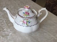 Rare find ,Royal Albert Petit Point Teapot ,Vintage Bone China made in England . Vaughan