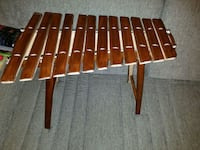 brown wooden folding table with chairs New York, 10032