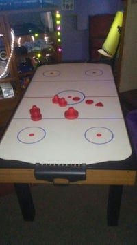 white and red air hockey table Edmonton, T5Z 2J3