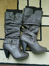 Brown High-Heeled Boots- size 6 Watsonville, 95076
