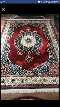 red, black, and white floral area rug Alexandria, 22312