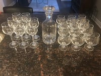 Glasses and decanter crystal