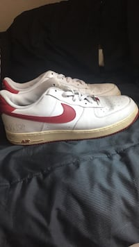 Pair of white-and-red nike sneakers Oceanside, 92058