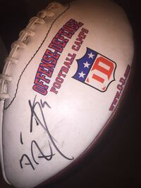 Signed autograph football by Ben roethlisberger from 2007 the summer