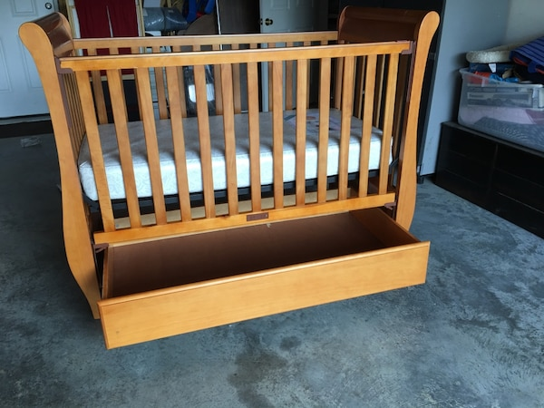 Crib and changing table- solid wood!