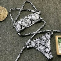 women's gray and black bikini Montreal, H1X