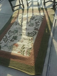 brown and green floral area rug McAllen, 78501