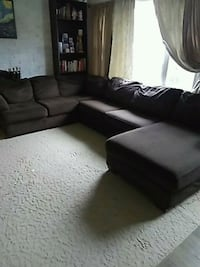 brown corduroy sectional sofa with throw pillows Accokeek, 20607