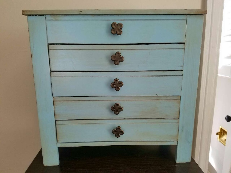 Used Pier One antique blue jewelry box in Macon