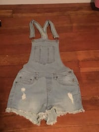 Bluenotes Ripped Overalls Women's Size Small