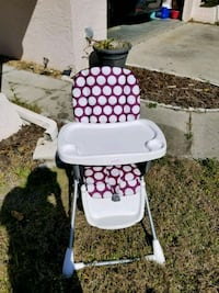 baby's white and purple high chair Fort Myers, 33919
