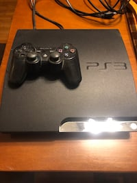 Black sony ps3 console with controller Amsterdam, 12010