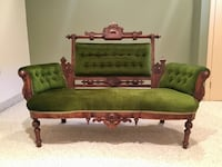 19th Century Antique Victorian Love Seat - Excellent Condition Brampton