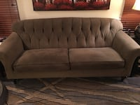 Tufted gray suede 2-seat sofa Silver Spring, 20906