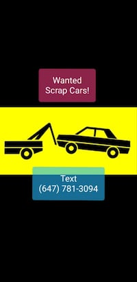 Scrap Car Removal GTA  Toronto
