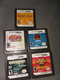 Nintendo D'S game's 5 games for $35 Stockton, 95205