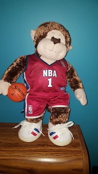Build a bear monkey with NBA outfit