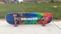 A west49 skateboard used it for about 3 months and you can change the wheels if you would like to no tax included