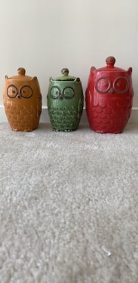 Kitchen Owl Canisters Silver Spring, 20910