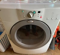 White front-load clothes washer Columbia