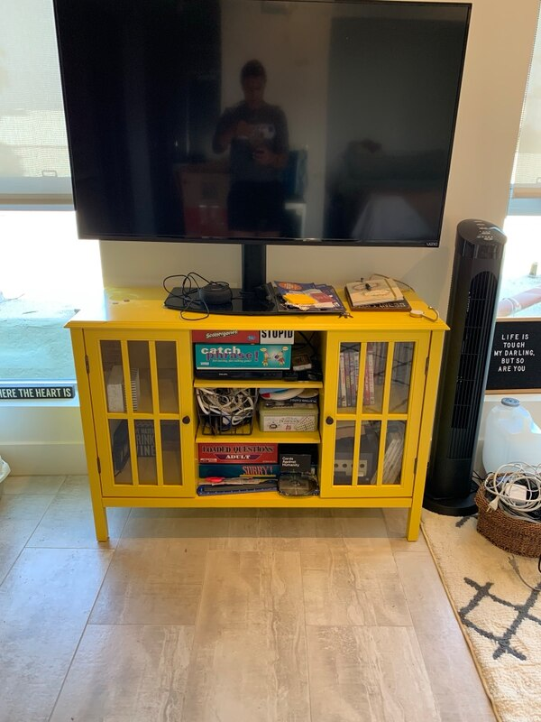 save off 58ae0 47409 Yellow dresser/tv stand