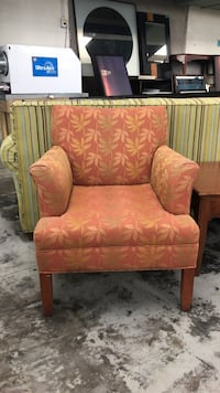 brown and red floral sofa chair 292 mi