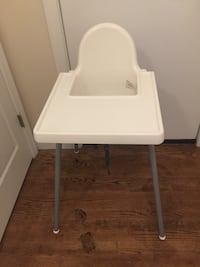 white and gray highchair with tray Rockville, 20850