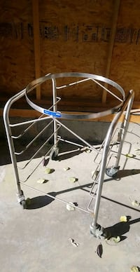 SS rack or garabage can holder on wheel .save Calgary, T2A 5R5