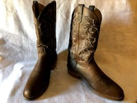 pair of brown leather cowboy boots North Las Vegas, 89031