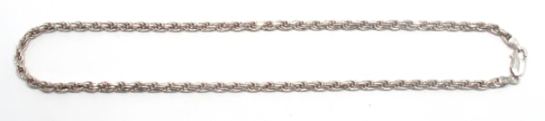 Mens Silver Rope Chain