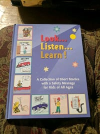 look listen learn book about safety for kids Edmonton