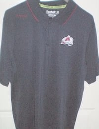 Colorado Avalanche Reebok Centre Ice Collection Golf Shirt Size Large London