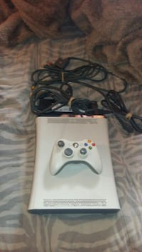 white Xbox 360 game console with controller Laval, H7G 4T6