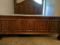 King Size Bed - Head Board Carved  Bristow, 20136