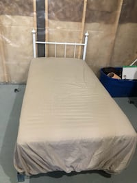 Mattress,box spring, Metal frame and head board for $80 Edmonton, T5X 4A2
